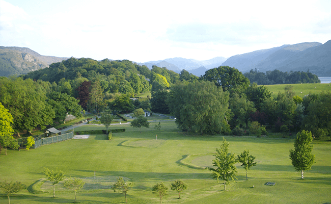 A view of the Golf Course in Keswick